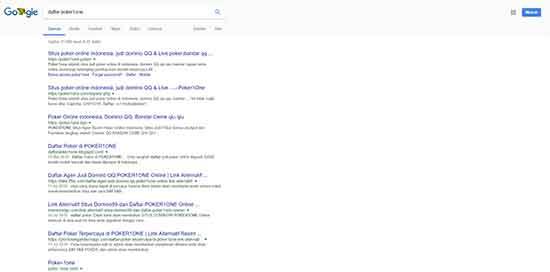 pencarian situs pendaftaran poker domino poker1one di google