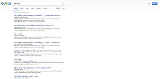 situs poker domino poker1one di google